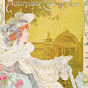 Poster Advertising The Sixth Exhibition Of The Automobile Club De France Print by J Barreau