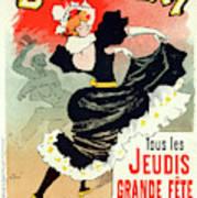 Poster For Le Bal Bullier. Meunier, Georges 1869-1942 Art Print