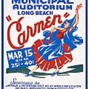 Poster For Production Of Carmen Art Print