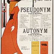 Poster For 'the Pseudonym And Autonym Libraries' Art Print