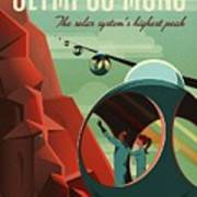 Poster For Tours Of Olympus Mons Art Print