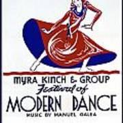 Poster Modern Dance Festival Art Print