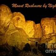 Poster Of Mount Rushmore Art Print