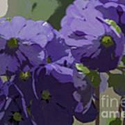 Posterised Flowers Art Print