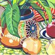 Pot With Onions Art Print