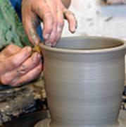 Potters Hands Art Print
