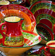 Pottery For Sale At A Market Stall Art Print