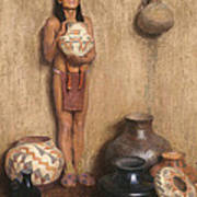 Pottery Vendor Art Print