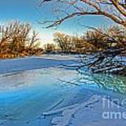 Poudre Ice Art Print by Baywest Imaging