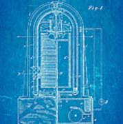 Poulsen Magnetic Tape Recorder Patent Art 1900 Blueprint Art Print