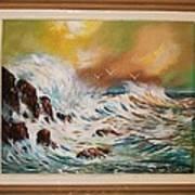 Pounding Surf Art Print