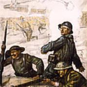 Pour La Victoire - W W 1 - 1918 Print by Daniel Hagerman