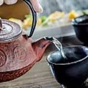 Pouring Japanese Tea Art Print