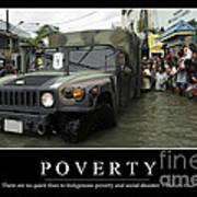 Poverty Inspirational Quote Art Print