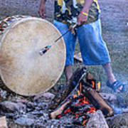 Pow Wow 58 Tuning The Drum Art Print