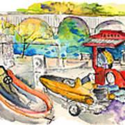 Power Boats World Championship In Barca De Alva 03 Art Print