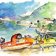 Power Boats World Championship In Barca De Alva 04 Art Print