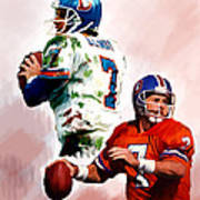 Power Force John Elway Art Print by Iconic Images Art Gallery David Pucciarelli