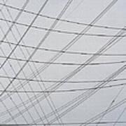 Power Lines Fill The Sky Art Print