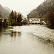Power Plant On River Art Print