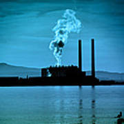 Power Station Silhouette Art Print by Craig B