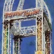 Power Tower Cedar Point Art Print