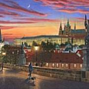 Prague At Dusk Art Print
