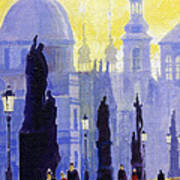 Prague Charles Bridge 03 Art Print by Yuriy  Shevchuk