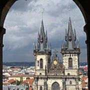 Prague From Town Hall Tower Art Print