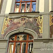 Prague - Mucha Mural Art Print