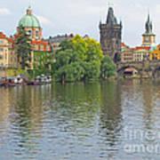Prague Reflected Art Print