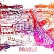 Prague Skyline Panorame Art Print