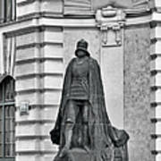 Prague - The Iron Man From A Long Time Ago And A Country Far Far Away Art Print by Christine Till