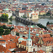 Prague - View From Castle Tower - 03 Art Print