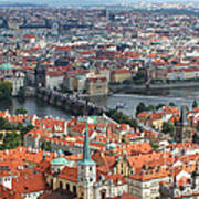 Prague - View From Castle Tower - 05 Art Print