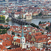 Prague - View From Castle Tower - 10 Art Print
