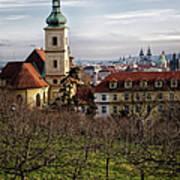 Prague View From The Gardens Art Print