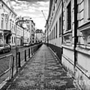 Praha Sidewalk  Art Print