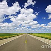 Prairie Highway Art Print