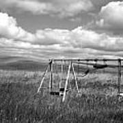 Prairie Swing Set Art Print