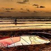 Prasonisi - A Day Of Windsurfing Is Over Art Print