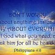 Pray About Everything 1 Art Print