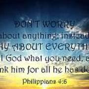 Pray About Everything 2 Art Print
