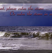 Prayer In Storm Art Print
