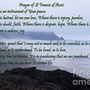 Prayer Of St Francis Of Assisi Art Print by Sharon Elliott