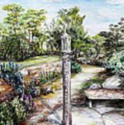 Prayer Wheel At Pacifica's Lambert Campus- Postcard Art Print