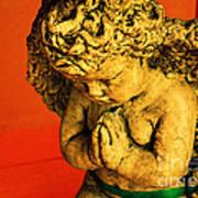 Praying Angel Art Print by Susanne Van Hulst
