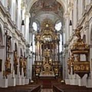 Praying At Munich Church Germany Art Print