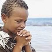 Praying Boy Print by Kicka Witte