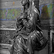 Praying Statue In Chantilly Art Print
